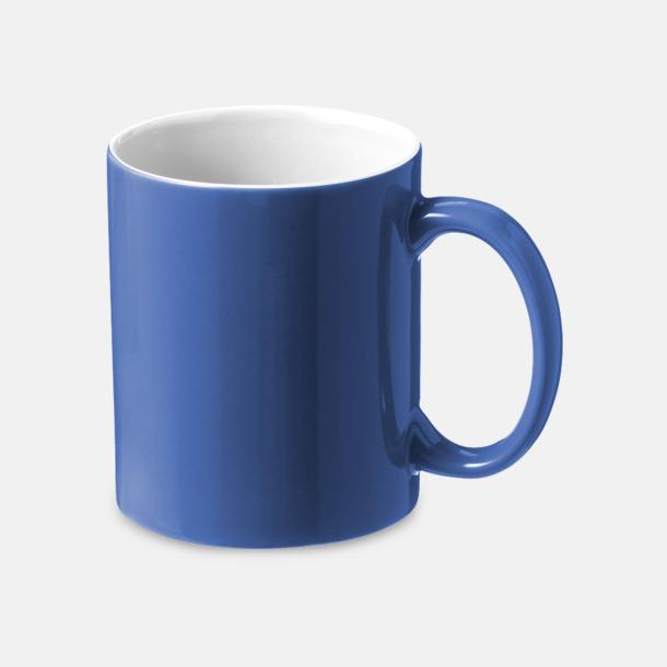 Blå / Vit Fina keramikmuggar med reklamtryck