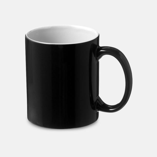 Svart / Vit Fina keramikmuggar med reklamtryck
