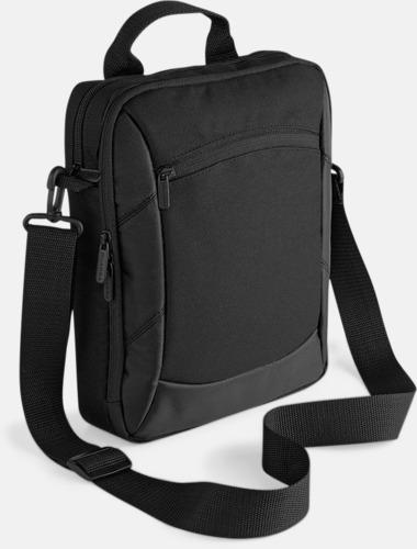 Svart Rejäla iPad-väskor med reklamtryck