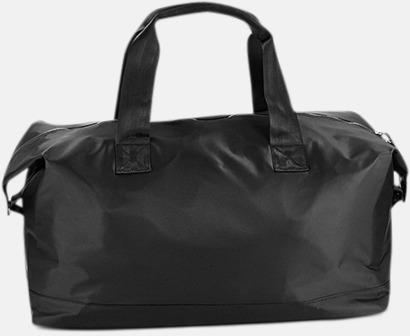 Mörka resväskor med reklamtryck