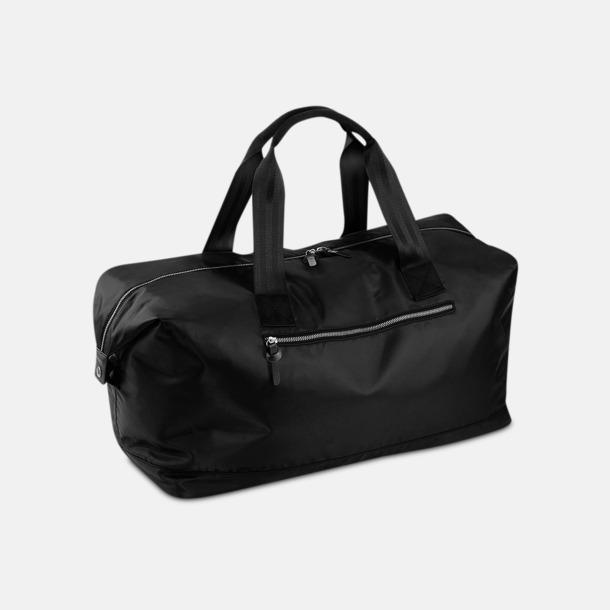 Svart Mörka resväskor med reklamtryck