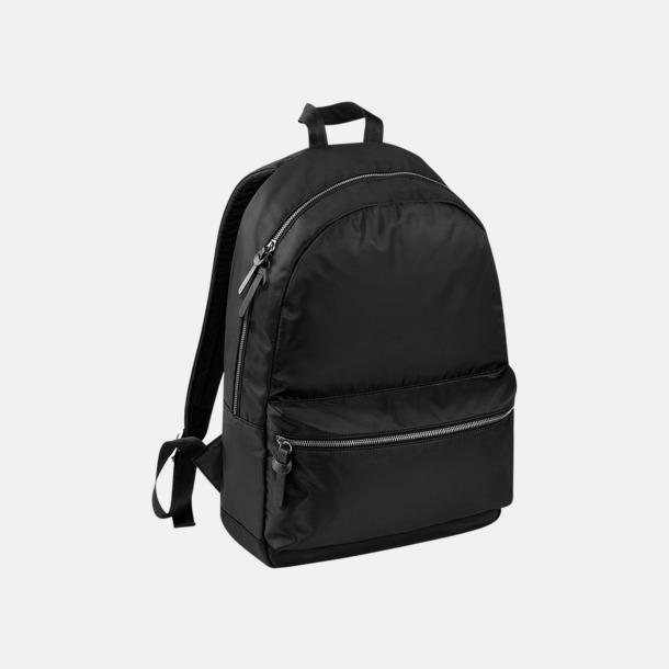 Svart Mörka ryggsäckar med reklamtryck