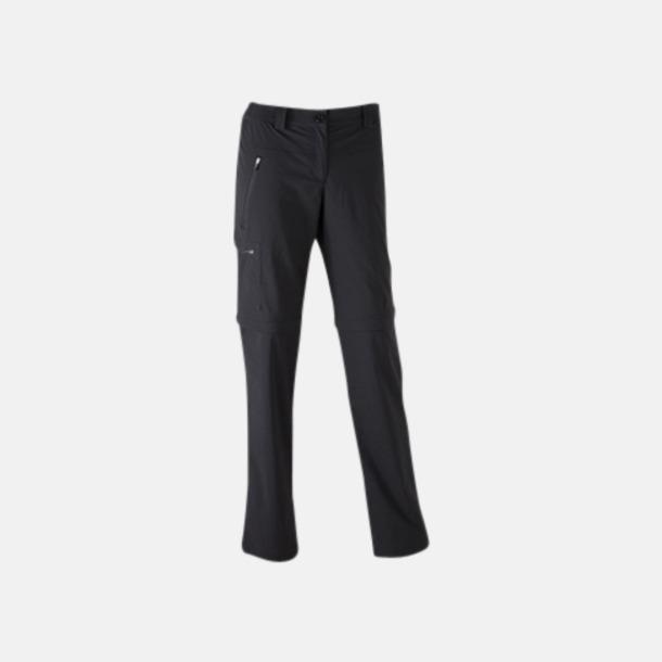 Svart (dam) Korta & långa byxor i ett - med reklamtryck