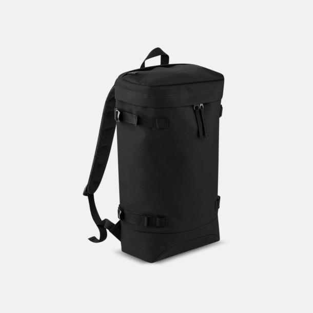 Svart Retro ryggsäckar med reklamtryck