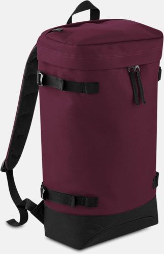 Burgundy Retro ryggsäckar med reklamtryck