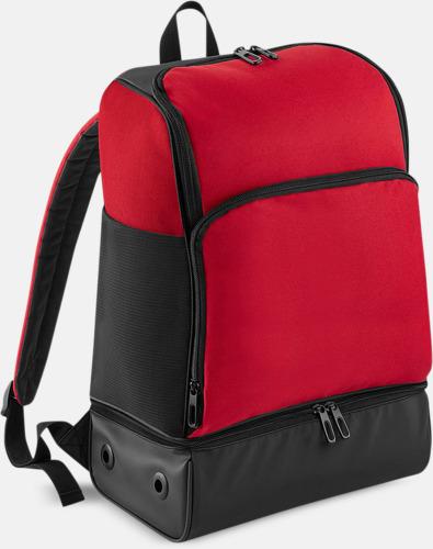 Classic Red/Svart Sportryggsäckar med reklamtryck