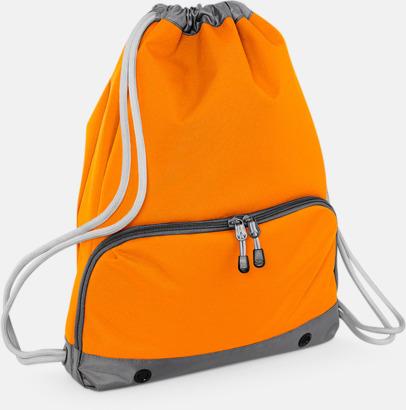 Orange Moderna gympapåsar med reklamtryck