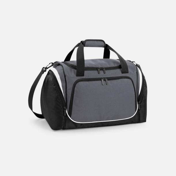 Graphite Grey/Svart/Vit Finare sportväska med reklamtryck