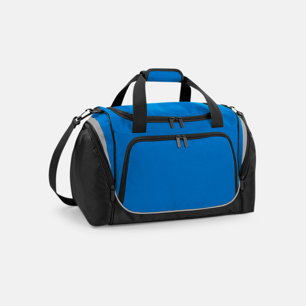 Sapphire Blue/Svart/Ljusgrå Finare sportväska med reklamtryck