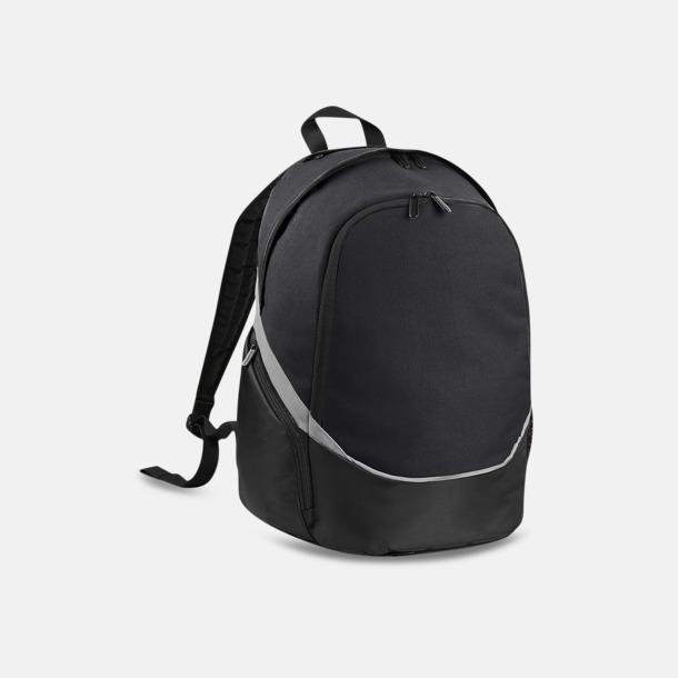 Svart / Ljusgrå Team ryggsäckar med reklamtryck