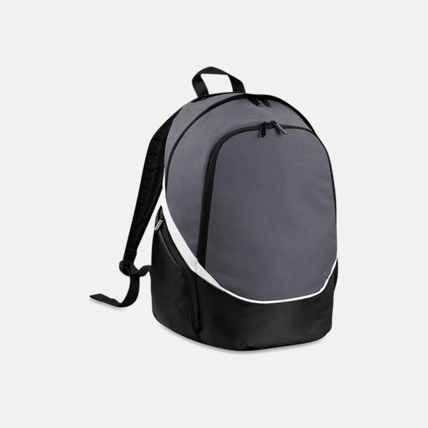 Graphite Grey/Svart/Vit Team ryggsäckar med reklamtryck