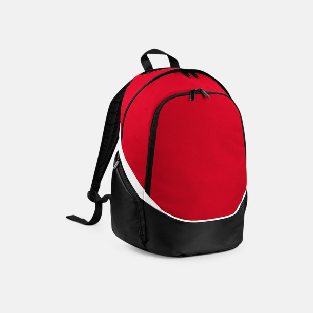 Classic Red/Svart/Vit Team ryggsäckar med reklamtryck
