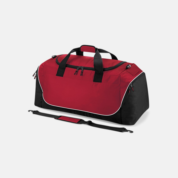 Classic Red/Svart/Vit Extra stora sportbagar med reklamtryck