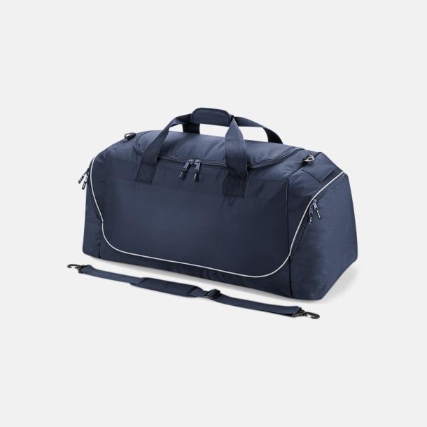 French Navy/Ljusgrå Extra stora sportbagar med reklamtryck