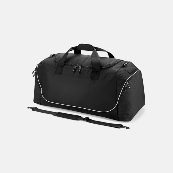 Svart / Ljusgrå Extra stora sportbagar med reklamtryck