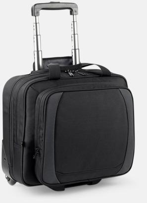 Svart/Dark Graphite Smidig laptopresväska med reklamtryck