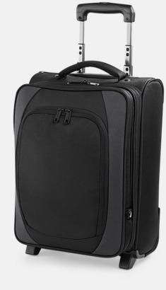 Svart/Dark Graphite Laptop resväskor med reklamtryck