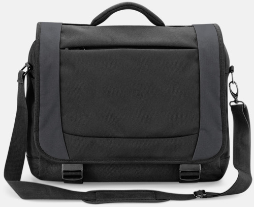 Svart/Dark Graphite Fina laptopväskor med reklamtryck