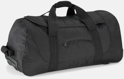 Svart Sport- & resväska med reklamtryck
