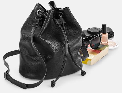 Väskor i konstläder med reklamlogo