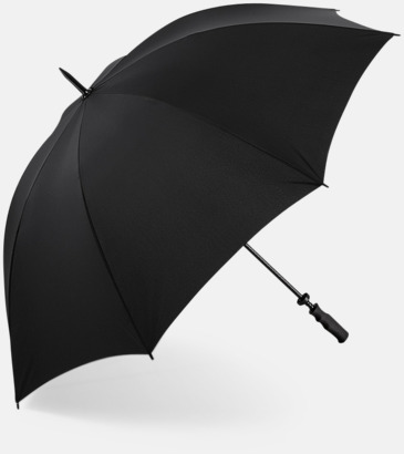 Svart Exklusiva golfparaplyer med reklamtryck