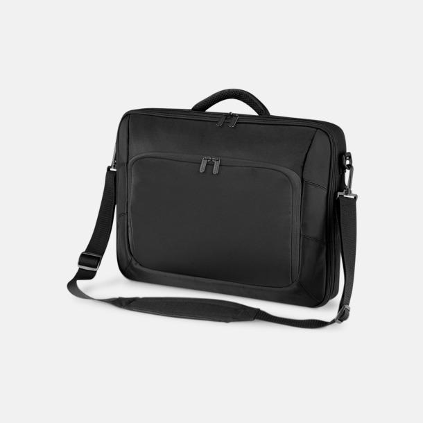 Svart Stilrena laptopväskor med reklamtryck