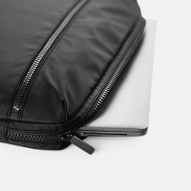 Svarta laptopfodral med reklamtryck