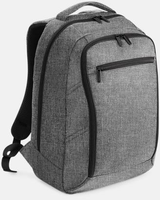 Grey Marl Fina datorryggsäckar med reklamtryck