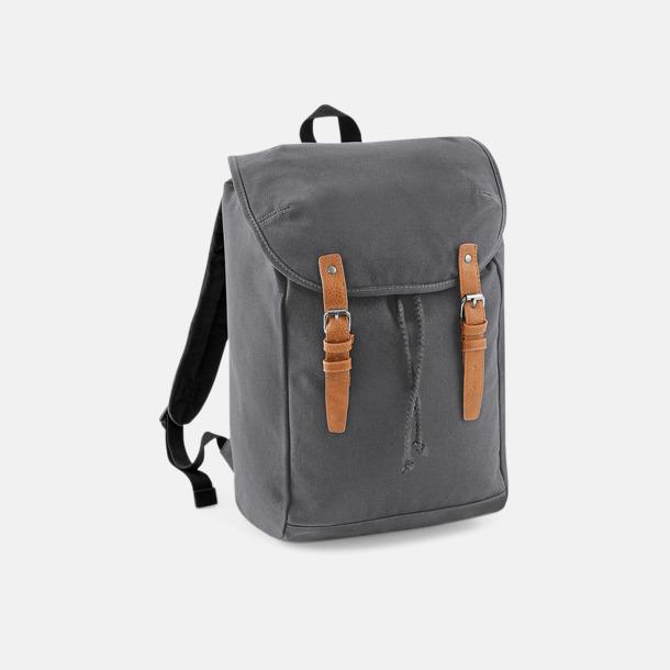 Graphite Grey Vintage-ryggsäckar med reklamtryck