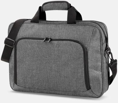Grey Marl Exklusiva laptopväskor med reklamtryck