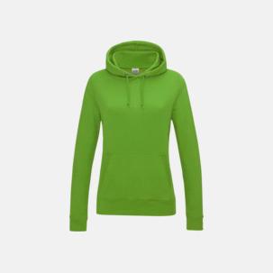 Populära hoodies i dammodell med reklamtryck
