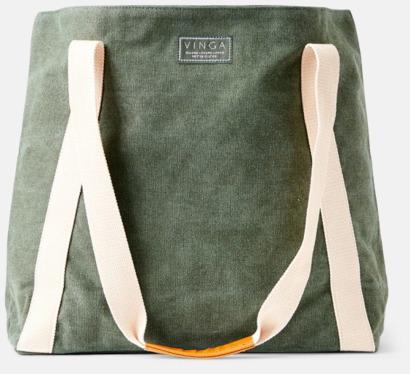 Grön Clifton strandväska från Vinga of Sweden med eget reklamtryck