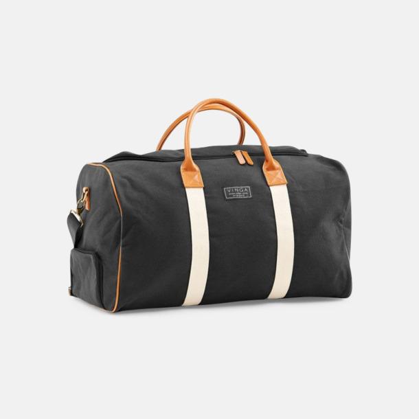 Svart Clifton weekendbag canvasväska med eget reklamtryck