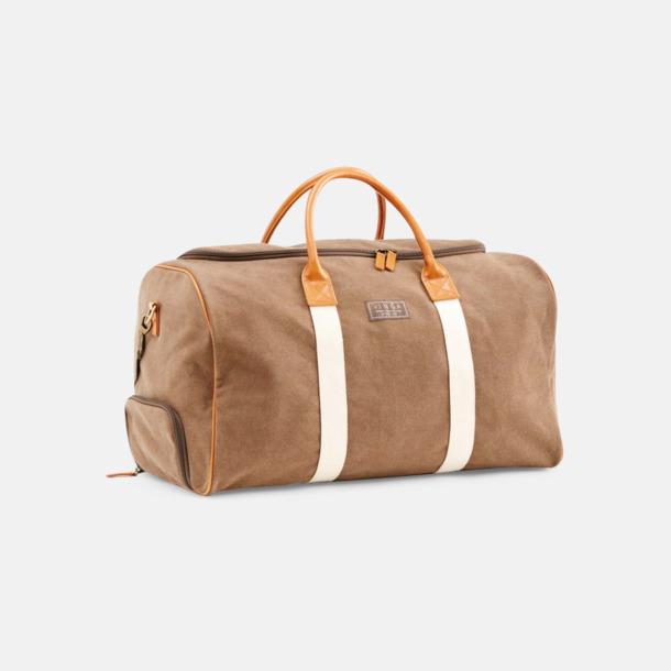 Brun Clifton weekendbag canvasväska med eget reklamtryck
