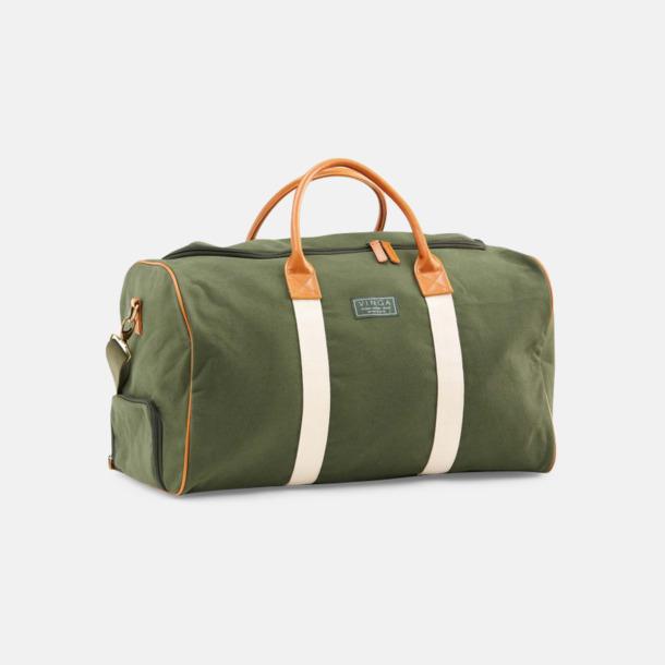 Grön Clifton weekendbag canvasväska med eget reklamtryck