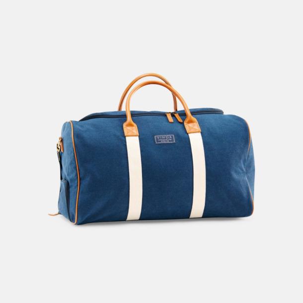 Marinblå Clifton weekendbag canvasväska med eget reklamtryck