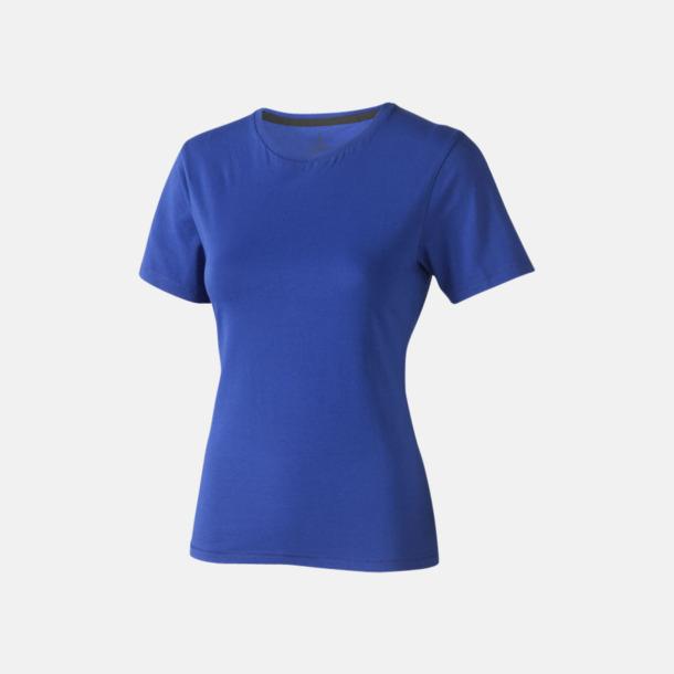 Blå (dam) Bekväma t-shirts med reklamtryck