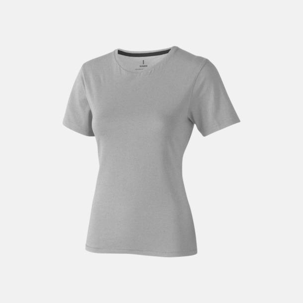 Grey Melange (dam) Bekväma t-shirts med reklamtryck