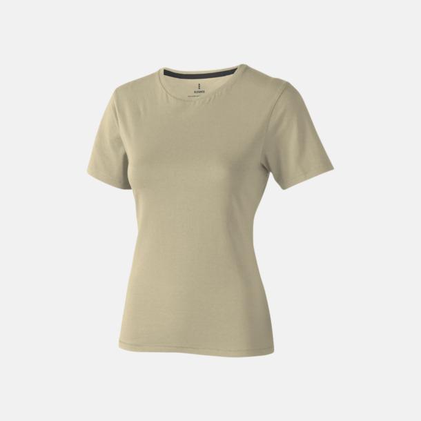 Khaki (dam) Bekväma t-shirts med reklamtryck