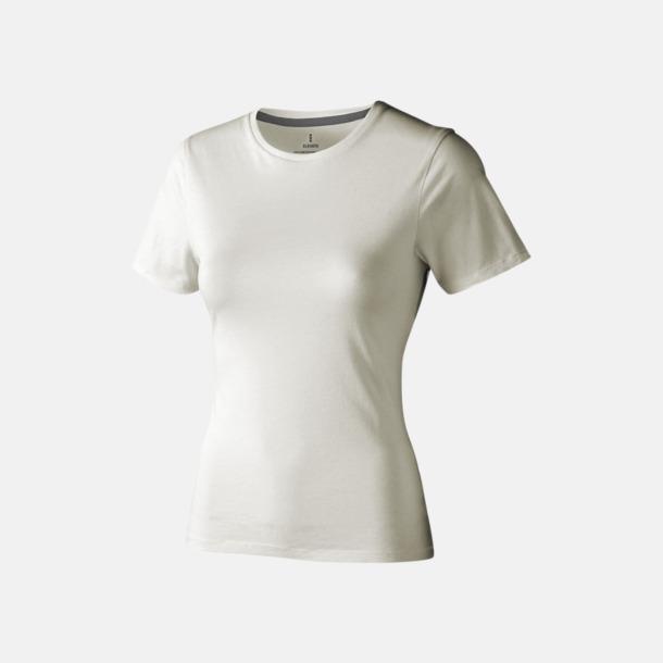 Ljusgrå (dam) Bekväma t-shirts med reklamtryck