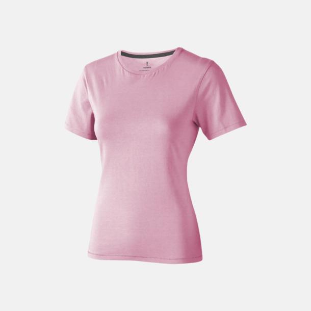 Ljusrosa (dam) Bekväma t-shirts med reklamtryck