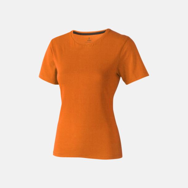 Orange (dam) Bekväma t-shirts med reklamtryck