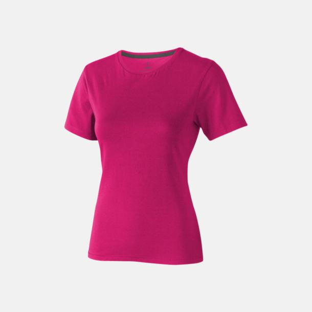 Rosa (dam) Bekväma t-shirts med reklamtryck