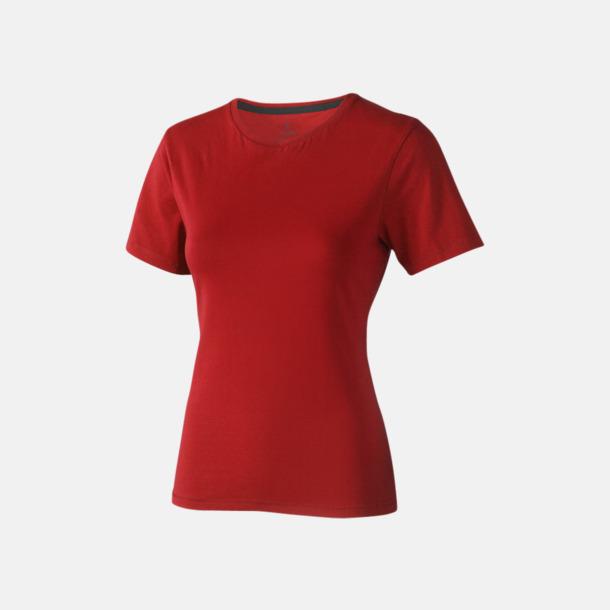 Röd (dam) Bekväma t-shirts med reklamtryck