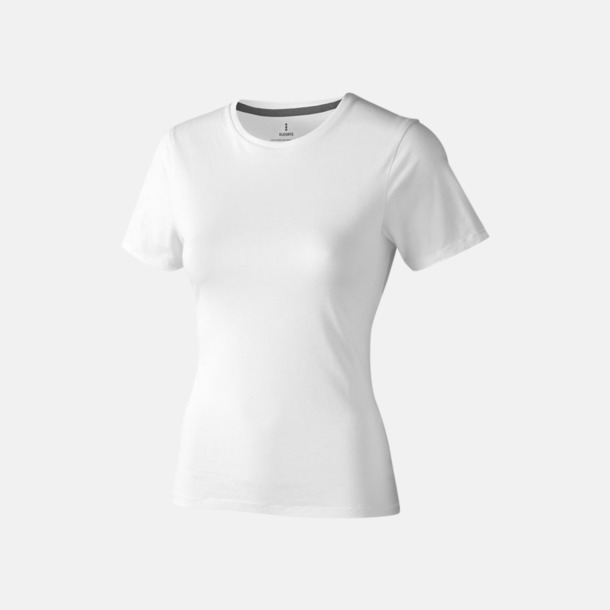 Vit (dam) Bekväma t-shirts med reklamtryck