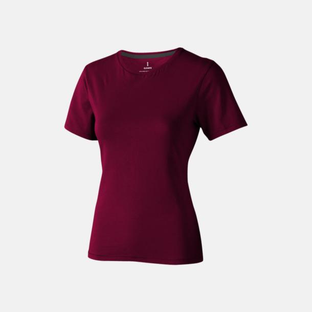 Burgundy (dam) Bekväma t-shirts med reklamtryck