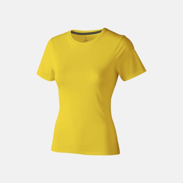 Gul (dam) Bekväma t-shirts med reklamtryck