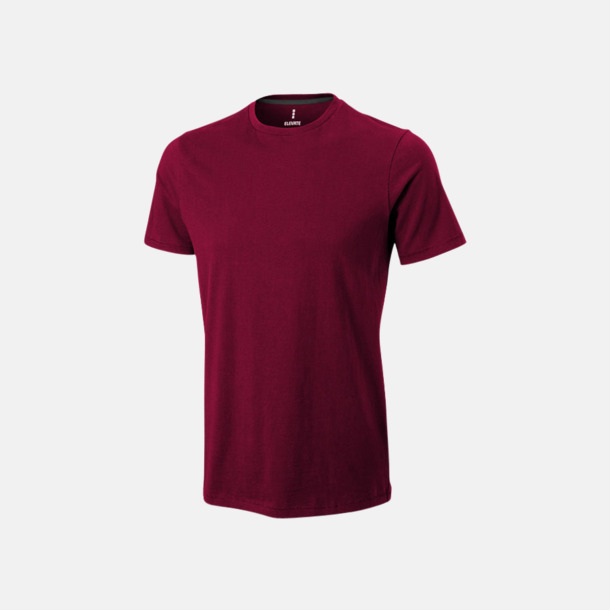 Burgundy (herr) Bekväma t-shirts med reklamtryck
