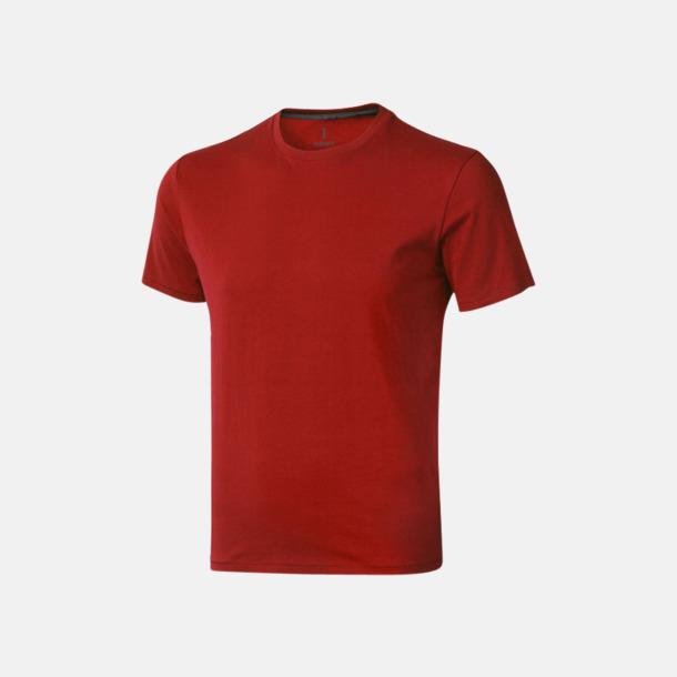 Röd (herr) Bekväma t-shirts med reklamtryck