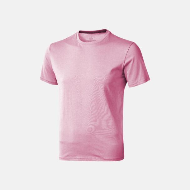 Ljusrosa (herr) Bekväma t-shirts med reklamtryck